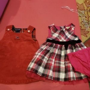 Lot of 2 dresses sz 9m